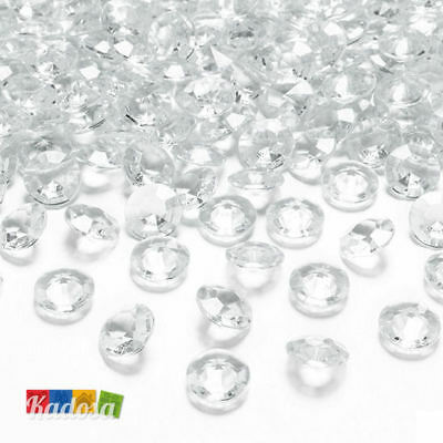 100 Diamanti Decorativi 12 mm TRASPARENTI Diamantini Centrotavola Party Elegante