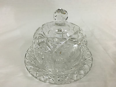 Vintage Lead Crystal Dish with Lid 6-1/4 Inch