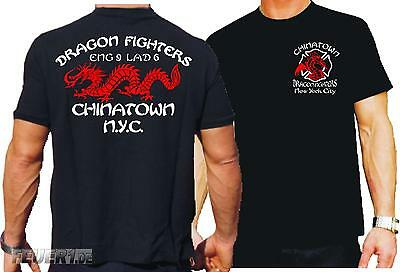 T-Shirt, black: Dragon Fighters Chinatown
