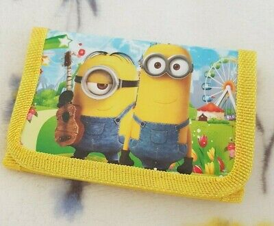 Minions Children Wallet Purse Despicable Me Cartoon Character Bag Boy's Girl's
