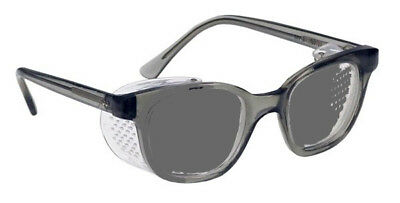 Photo Gray Transition Glass Safety Glasses Plastic Safety Frame with Side Shield