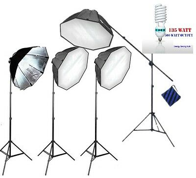 Photography quick set up 4 softbox Continuous Lighting Video portrait Light kit