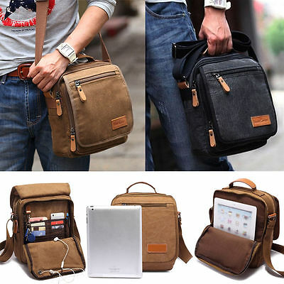Vintage Men's Outdoor Canvas Messenger Shoulder Bag Handbag Travel Hiking Bags