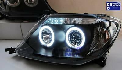 TOYOTA HILUX SR5 04-10 Double Cab BLACK LED Twin Halo Projector Headlight