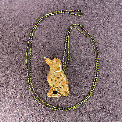 3D WOODPECKER FETISH NECKLACE Soapstone Flicker Bird Totem Talisman Charm Amulet