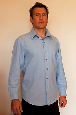 Hemp Men's Shirts - Pack of 2 BLUE