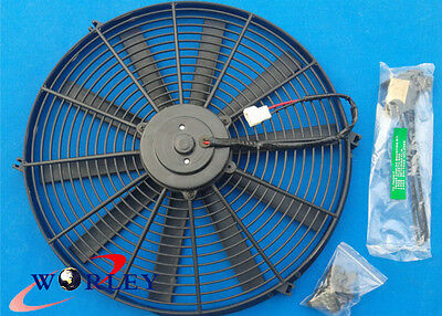 For 16 inch 12V volt Electric Cooling Fan Thermo Fan +Mounting kits