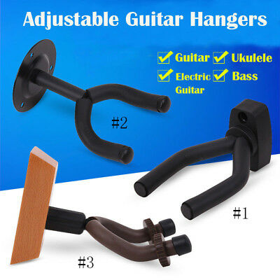 Newest Guitar Wall Hanger Holder Stand Rack Hook Mount for All Size Guitar US CE
