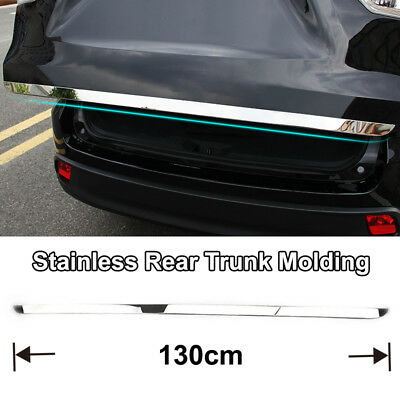 Fit For Highlander 2014-2018 Chrome Rear Trunk Tail Gate Door Cover Trim Molding