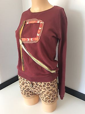 SCOTCH R BELLE 2 piece outfit Set Age 12 / 152 Years Shorts Jumper Leopard Print
