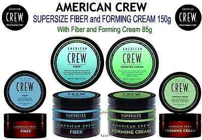 AMERICAN CREW SUPERSIZE DUOS - Fiber 150g + 85g or Forming Cream 150g + 85g