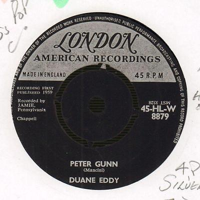 "Duane Eddy(3rd State 7"" Vinyl)Peter Gunn / Yep-London-HLW 8879-UK-1959-Ex/VG"
