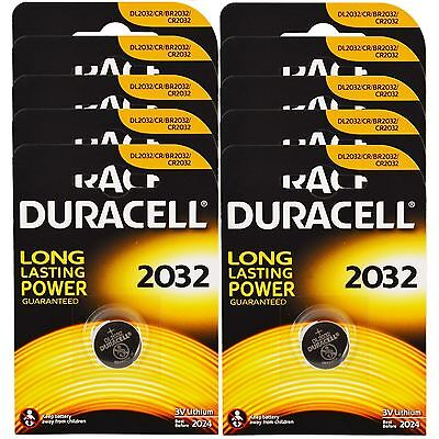 10 x DURACELL DL/CR 2032 3V Lithium Coin Cell Battery Batteries EXPIRY 2024