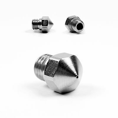 MK10 Plated Wear Resistant Nozzle FlashForge, Monoprice, Wanhao .4mm