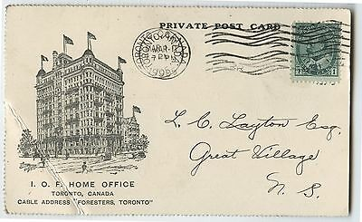 Old 1905 Advertising Postcard I.O.F Independant Order of Foresters