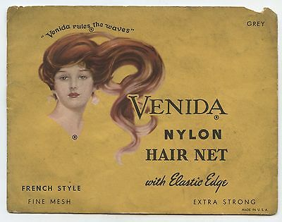 Old Vintage Venida Nylon Hair Net Envelope French Style