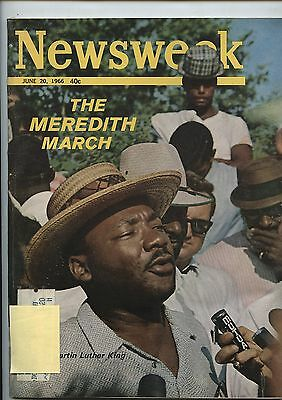 Old June 20, 1966 Newsweek Magazine Martin Luther King