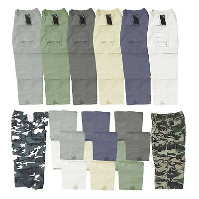 Mens Zipped-Off Convertible Full Length & Quarters Work & Casual Shorts Trousers