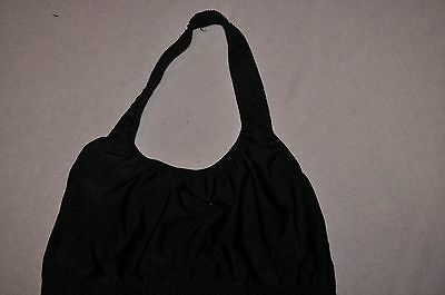 Nwt Natalie Child size Medium 8-10 Black nylon halter bra dance top