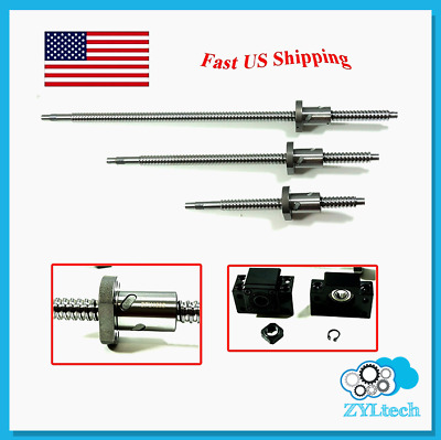 ZYLtech Precision (TRUE C7) 16mm Ball Screw 1605 w/ BF/BK12 End Support - 400mm