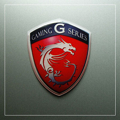 msi Gaming Series Sticker - 49mm x 38mm - Domed Logo Case Badge Aufkleber