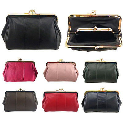 Genuine Leather Clutch Wallet Long Purse Women's Coin Holder Case Handbag Mini