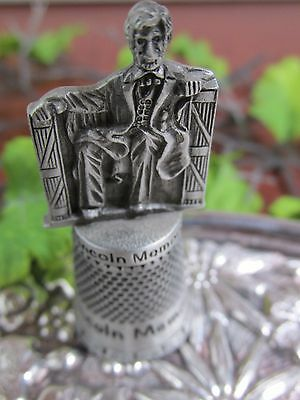 Vintage Pewter Lincoln Memorial Thimble