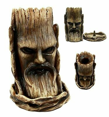 """5.75""""L Forest Tree Lord Greenman Celtic Backflow Cone Incense Burner Figurine"""