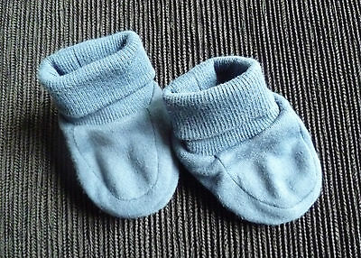 Baby clothes BOY newborn 0-1m Mothercare soft slippers/shoes navy blue SEE SHOP!