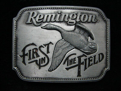 Pd13158 Vintage 1980 *remington First In The Field Canada Goose* Gun Belt Buckle