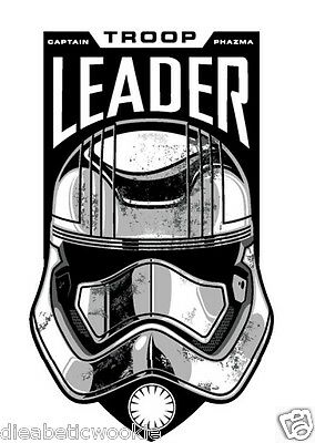 Star Wars Captain Phasma Stormtrooper Awakens Sticker decal car laptop scrapbook