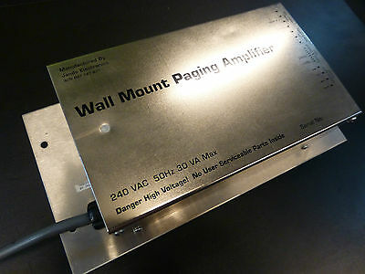 Jands Paging Wall Mount Power Amplifier/commercial Pa Announcement Amp 240V