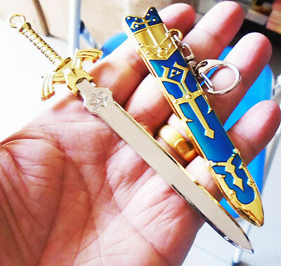 Game The Legend of Zelda  Metal Sword Key Chain Key Ring Cosplay Pendant