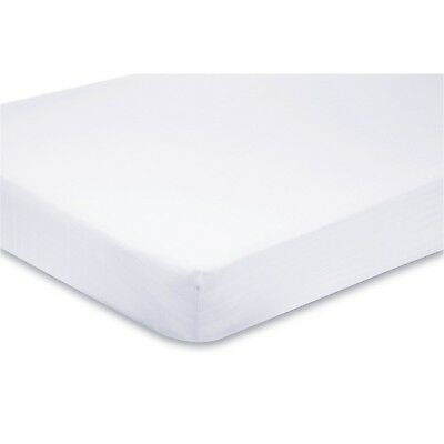 Travel Cot Fitted Sheet 100% Cotton 95cm x 65cm - White