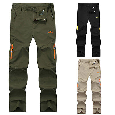 Summer Outdoor Sports Pants Men's Quick Gry Waterproof Climbing Hiking Trousers