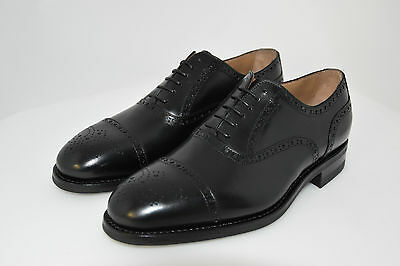 Man-6Eu-7Us-Oxford Captoe-Black Calf-Vitello Nero-Dainite Rubber Sole