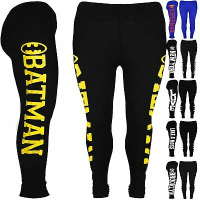 Kids Superman Batman Leggings Girls Brooklyn Like a Boss Full Length Jegging