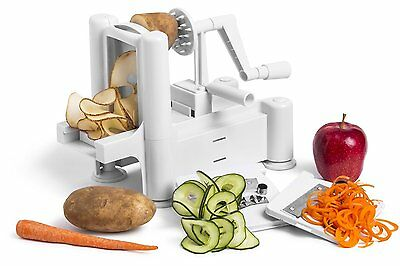 Tri Blade Fruit Vegetable Spiralizer Slicer Cutter Peeler Chopper Kitchen Food