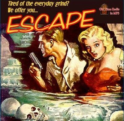 Escape 250 Old Time Radio Shows 2 x MP3 DVD's  otr mystery thriller 125 Hours!