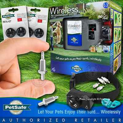 Petsafe PIF-300 Instant Wireless Pet Fence System & New Gentle Retractable Prong
