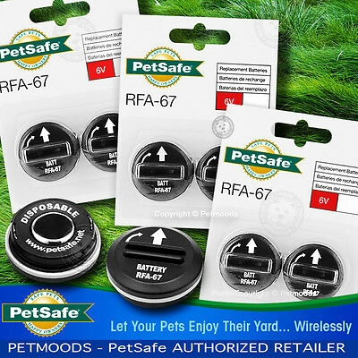 PetSafe RFA-67D-11 Batteries Wireless Dog Fence Collar PIF-275-19 PUL-275 Qty 6