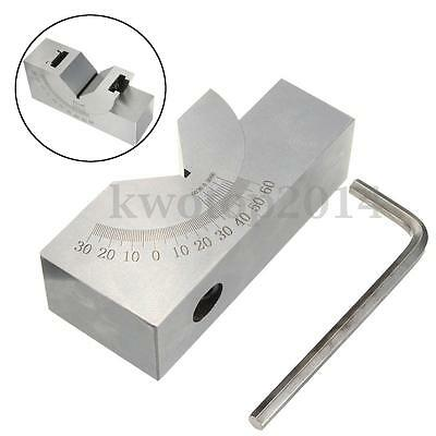 75x25x32mm Toolmaker Precision Micro Adjustable Angle V Block Milling 0° To 60°