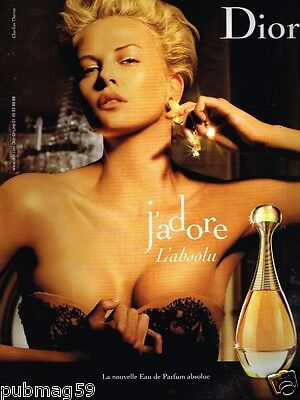 Publicité advertising 2007 Parfum J'adore Dior avec Charlize Theron