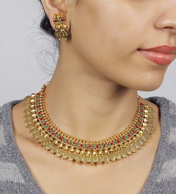 2026 Ethnic Bollywood Indian Polki Jewellery Gold Plated Bridal Necklace Set