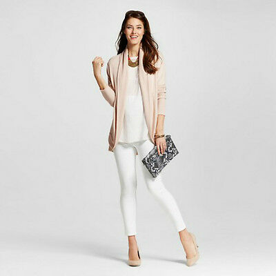 Maternity White Over the Bump Ankle Skinny Jeans Trousers Liz Lange Sizes 6-22