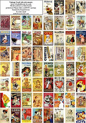 Vintage Food Advertisements-60 All Different A6 Art Cards