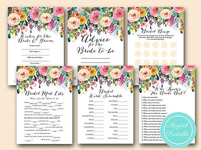 Print Yourself Shabby Chic Bridal Shower Game Printables bs138