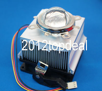 50W 100W LED Aluminium Heat Sink Cooling Fan+60°44mm Lens + Reflector Bracket