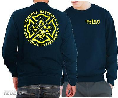 "Sweat navy, ""HazMat Co.1"" New York (Gefahrguteinheit)"