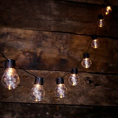 NEW Solar Powered Retro Bulb String Lights For Garden Outdoor Fairy Summer Lamp